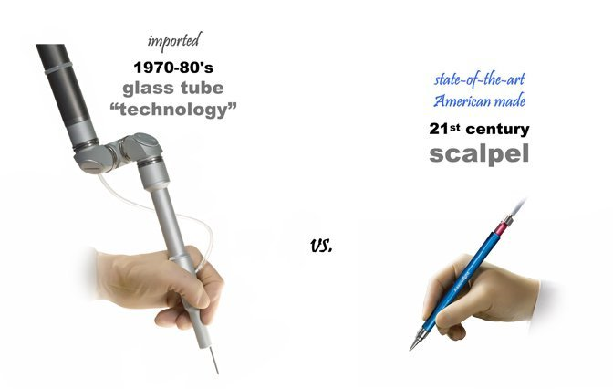 Surgical Lasers - Articulated Arm vs Tipless Handpiece