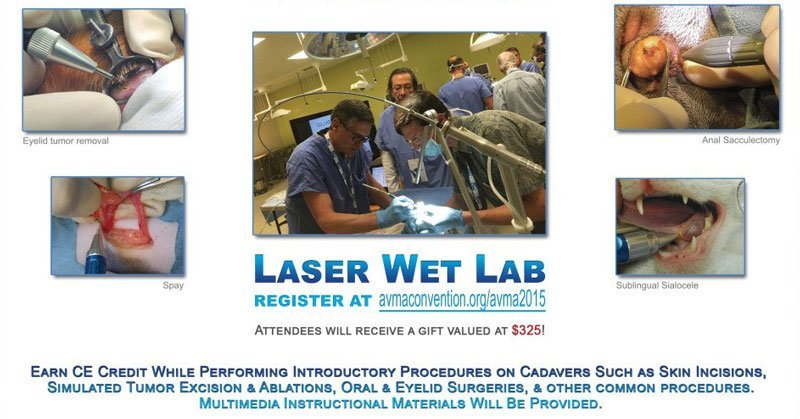 laser wet lab at avma 2015 in boston