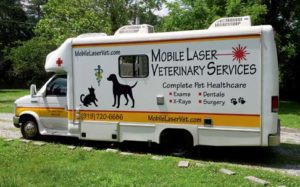 FIGURE 1A: Dr. Janine S. Dismukes' mobile practice van.