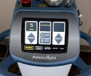 Figure 6-B. Aesculight CO2 laser set to 5 watts in the continuous wave mode