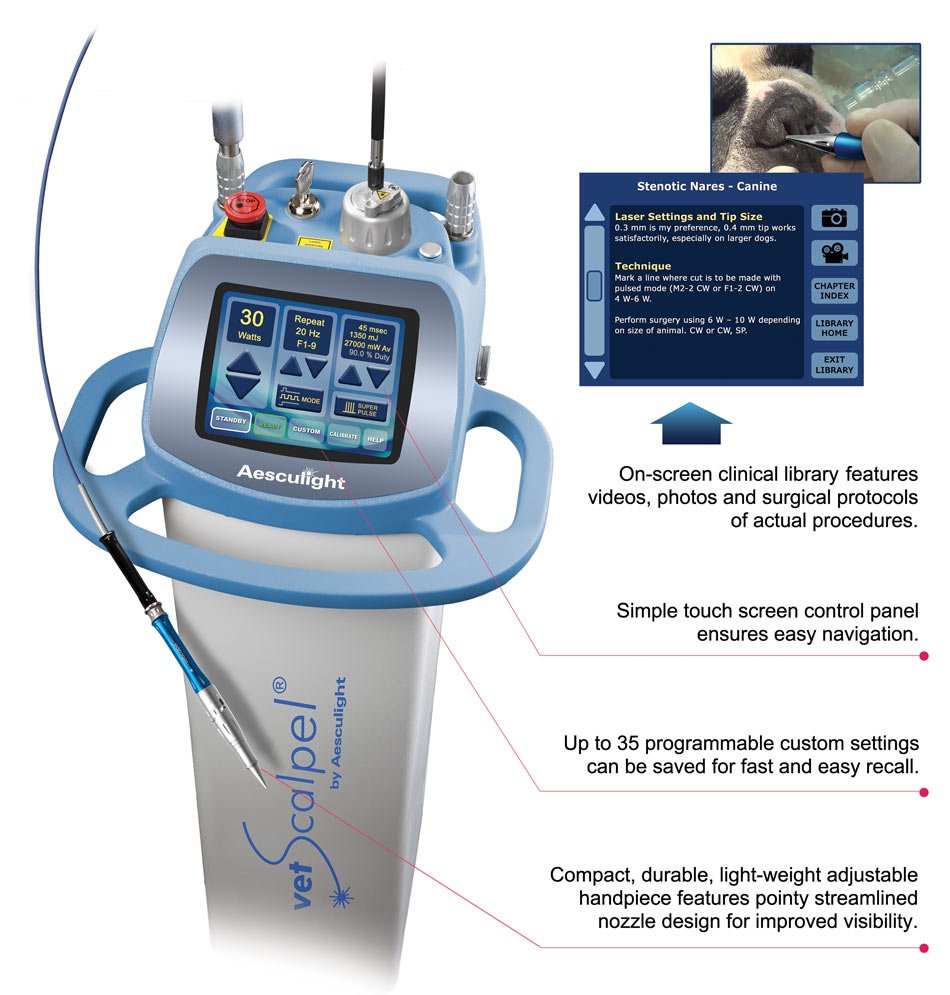 vetscalpel surgical co2 laser features